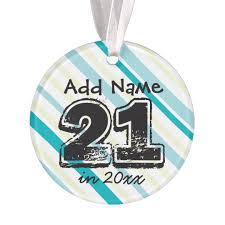 personalized 21st birthday ornament zazzle