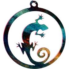 gecko lizard southwest ornament