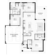 Spanish Floor Plans House Plans 3 Bedroom House Floor Plan Low Country Home Plans