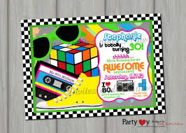 doc 80s party invites u2013 80s theme birthday party