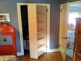 Swing Closet Doors Closet Door Ideas Using Custom Made 6 Tier Open Rack Swing