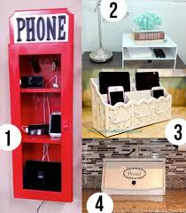 electronic charging station a place for electronic devices easy diy charging station