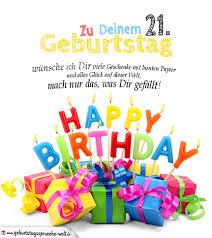 geburtstagskarten zum ausdrucken 21 geburtstag - Geburtstagssprüche 21