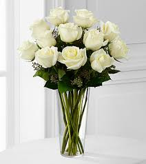 white roses for sale the white bouquet by ftd vase included