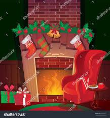 christmas fireplace stock vector 233639377 shutterstock