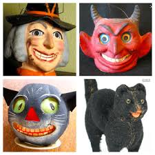 old fashioned halloween masks vintage halloween decorations u2013 a collectible pinup