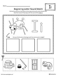 short letter i beginning sound picture match worksheet