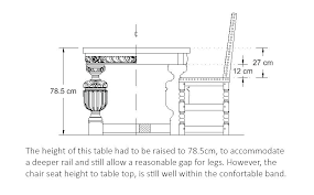 standard dining room table height digitalnomad site wp content uploads 2018 04 vanit