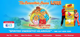 the berenstain bears live in family matters the musical nyc