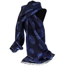 rich kid skull scarf navy u0026 blue unisex scarfs