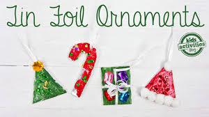 tin foil christmas ornaments for kids youtube