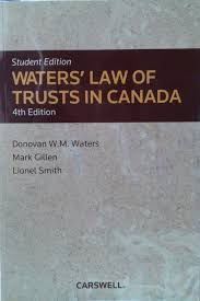 Donovan Student Desk by Waters U0027 Law Of Trusts In Canada 4th Edition Student Edition