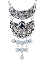 pearl crystal statement necklace images Buy the jewelbox oxidised german silver blue crystal pearl jpg
