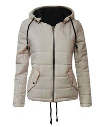 long sleeve quilted puffer padded hooded warm bubble la s women