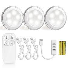 wireless led puck light with remote control morpilot 5 led under