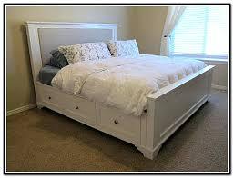 king size bed frame drawers king size platform storage bed white