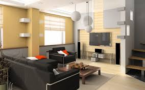 yellow wall paint in modern home and white pendant lamp also black