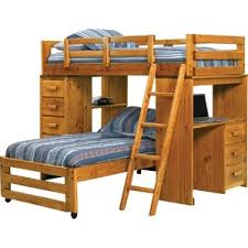 harriet bee coffey twin over twin l shaped bunk beds with chest