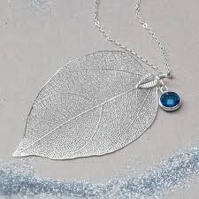leaf charm necklace images Caitlan personalised leaf pendant necklace by bloom boutique jpg