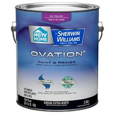 shop hgtv home by sherwin williams ovation tintable semi gloss