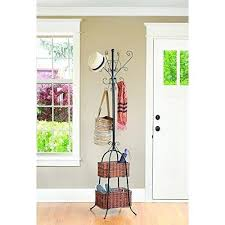scroll metal tree coat rack skymall