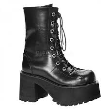 womens motorcycle shoes ranger womens platform combat boot gothic millitary style boot