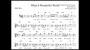 light of the world chords what a wonderful world louis armstrong alto sax sheet music w