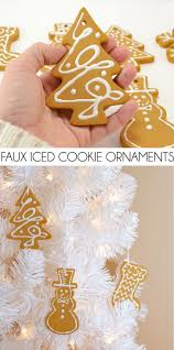 faux iced cookie ornaments dream a little bigger