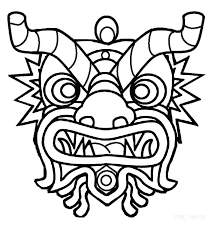 chinese dragon coloring pages easy chinese new year coloring pictures chinese new year calendar