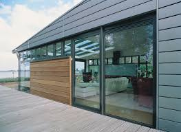 Marvin Sliding Patio Door by Curtain Wall Big Glass Openings