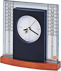 Frank Lloyd Wright Area Rugs Amazon Com Bulova Usonian Ii Frank Lloyd Wright Clock Home U0026 Kitchen