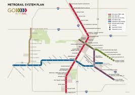 houston map convention center houston metrorail future system plan transit maps