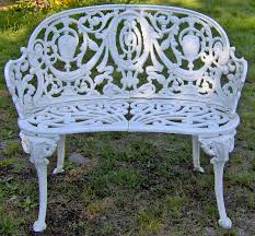 elegant iron bench outdoor diy how to restore a cast iron and wood