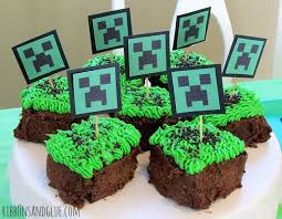 minecraft cupcakes party minecraft style