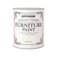 White Furniture Paint Rust Oleum Chalky Finish Furniture Paint Antique White 750ml