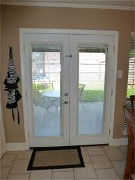 Patio French Doors With Blinds by Patio French Doors With Built In Blinds Redesigningthepla Net
