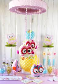 diy owl mobile owl baby shower decorations5 jpg
