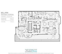Luxury Penthouse Floor Plan by Penthouse 7 For Sale At Bellaria Luxury Oceanfront Condominiums