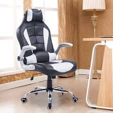 fauteuil de bureau grand confort homcom fauteuil chaise de bureau modèle baquet de course grand