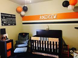 Baseball Nursery Bedding Sets by Sf Giants Themed Nursery Baseball Baby Room Orange And Black