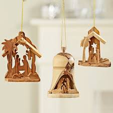 holy land olive wood nativity ornaments national geographic store