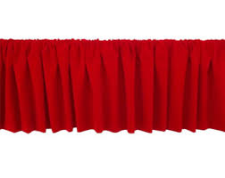 Wide Rod Valances Red Valance Etsy