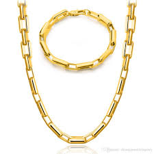 trendy necklace styles images Valuable mens gold necklace styles bracelet 18k real plated basic jpg