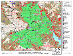 Mt Hood Trail Map Slide Mountain Wilderness