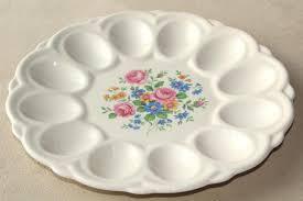 vintage deviled egg plates 1950s vintage china egg plate divided tray for serving deviled eggs