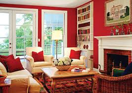 Cute Pinner Said Red Raises Energy  Adds Excitement Good Color - Good living room colors