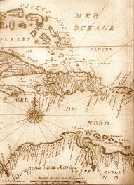 Pirates Of The Caribbean Map by Handwritten Ancient Map Of Caribbean Basin From The Book Of 1678