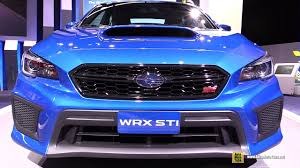 subaru 2018 subaru wrx sti exterior and interior walkaround debut at