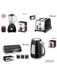 Black Kettle Toaster Set Set Kettle Toaster Bread Bin And Canister Blender Black