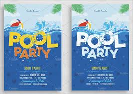 pool party invitations 21 pool party invitations free psd vector ai eps format